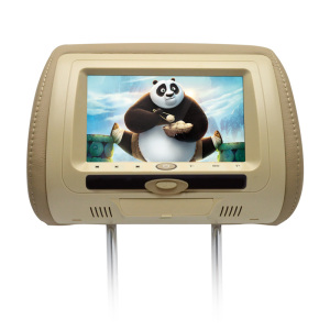 Best selling 7'' car TV player dvd players headrest Monitor DVD/USB/SD/IR/FM transmitter