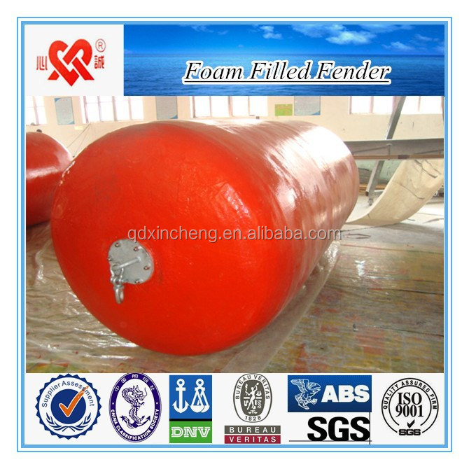 High quality of ship/dock polyurethane marine floating mooring buoy foam filled fender