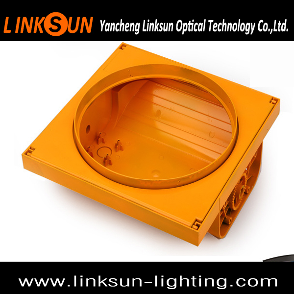 EN12368 IP65 Plastic 200mm Yellow PC Traffic Light Housing