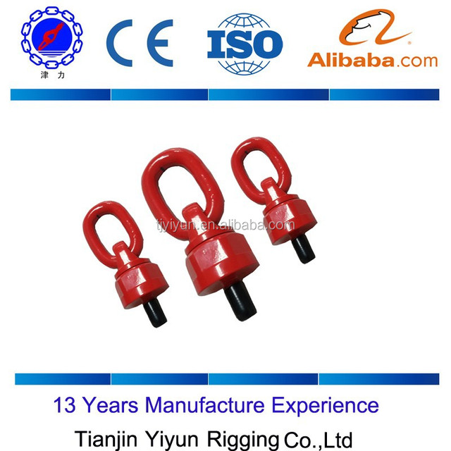 G80 alloy steel lifting points and and Swivel eye bolt with ring