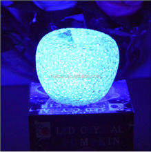 2014 new style beautiful EVA color changing apple shape LED light for Christmas
