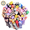 YWPX090 RDT 50pcs per bag Nail Art Phone DIY Decoration Tiger Bear Owl Chick Duck Cat Animal Polymer Clay Rods Nail Decals