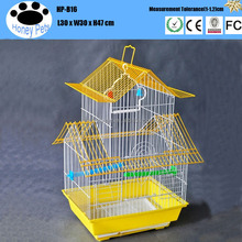 Red color Chinese Antique metal folding cool custom bird cages