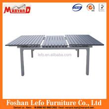 Outdoor aluminum frame extension table