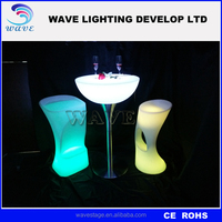 Factory export Illuminated led lighted up furniture/light up table with steel base