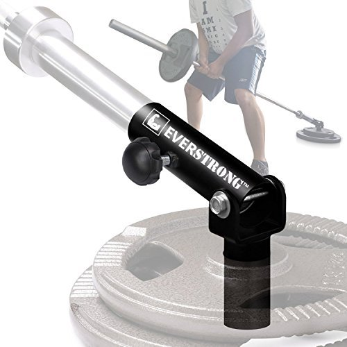 T bar Row with Securing Knob by EverStrong | Widest 360 Degree T-row Bar | Heavy Duty Steel T-bar Row Machine | T-bar Row Handle Home Workout Equipment | Body Fitness Equipment T-row Bar Attachment