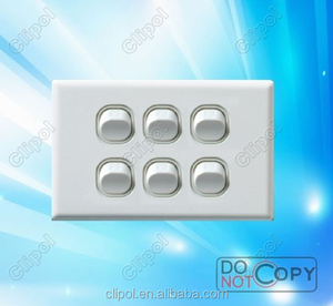SAA Approved online products new designed wall Switch 6 gang switch