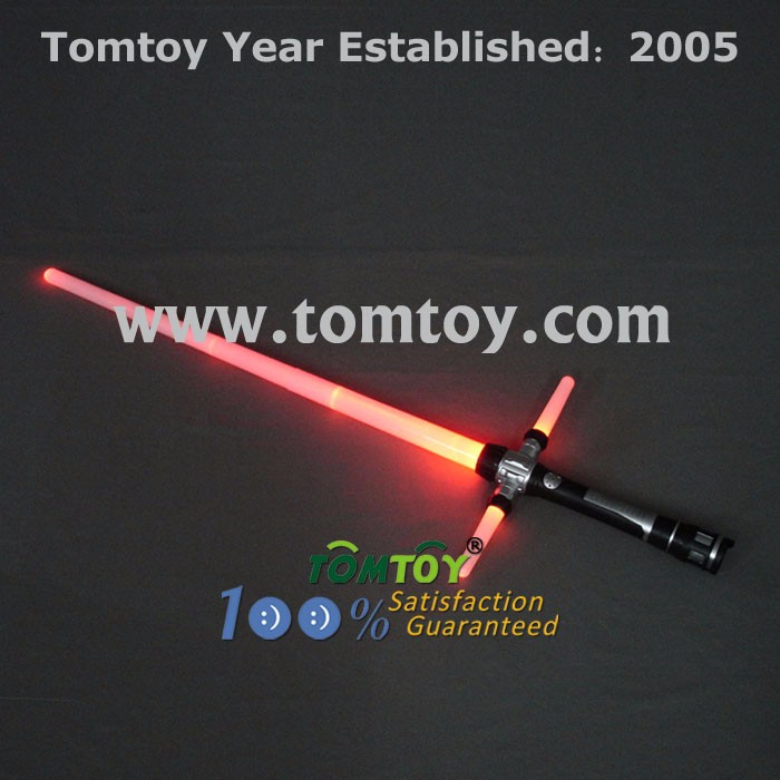 Plastic High Quality LED Light Up Expandable Cross Sword