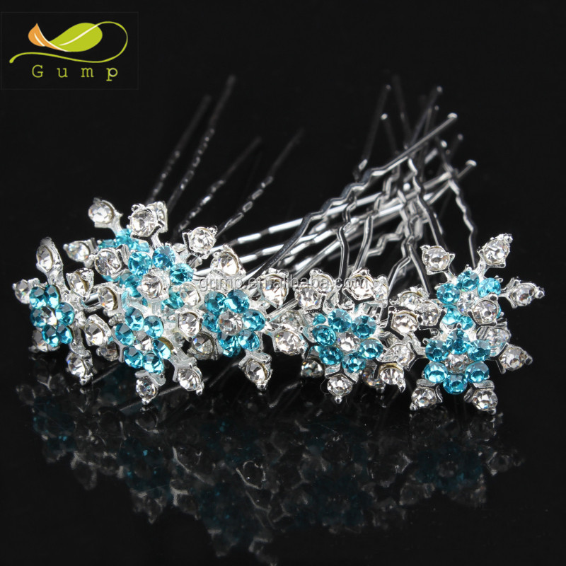 Wedding Bridal Crystal Flower Hairpin Hair Accessories Clips