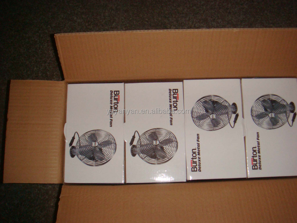 Max Burton 8 inch Metal Car Fan 12V DC Electric Mini Fan