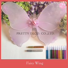 Purple color butterfly wing and glitter pen set kids DIY angel wing crafts