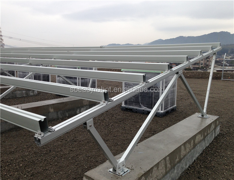 Aluminum Rail PV Solar Mounting Structure Rack For Ground