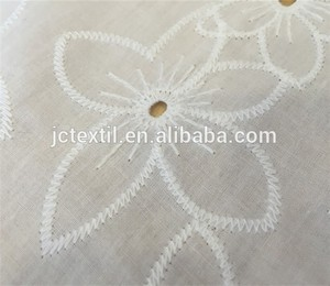 B2718 JC textile import plain dyed embroidery 100% organic cotton fabric for t-shirt