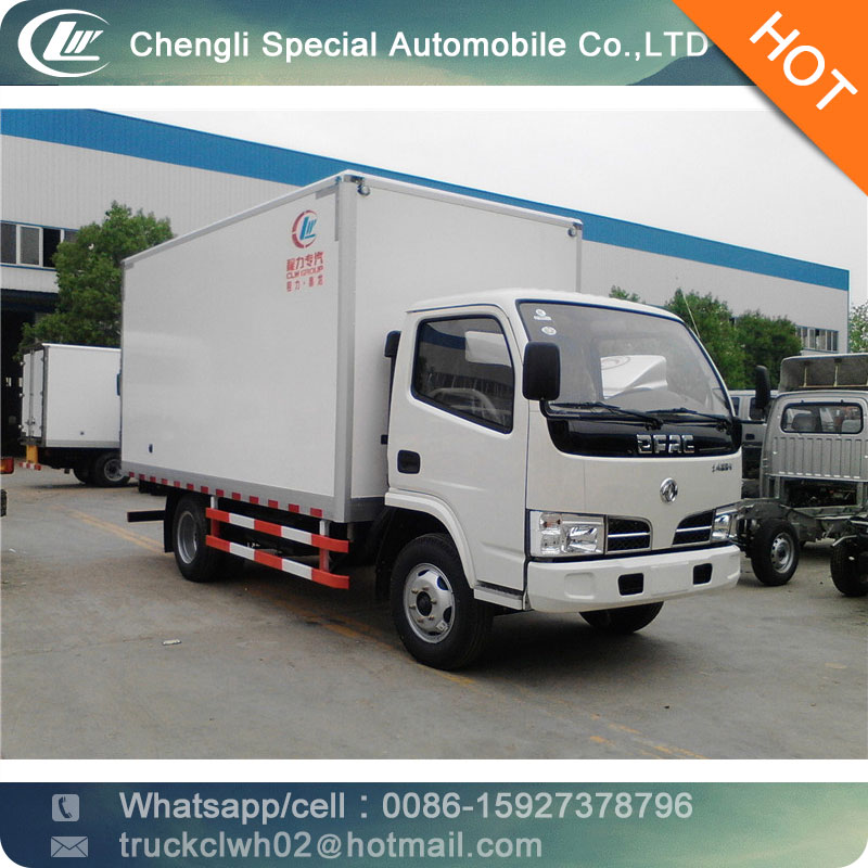 CLW insulated box <strong>truck</strong> dongfeng 5tons van <strong>truck</strong>