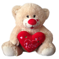 Valentine cute soft plush teddy bear toys animal toys with hold heart