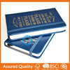 High quality customized PU leather diary book printing service