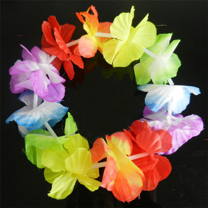 wholesale high quality flower strings garlands/artificial hawaiian, Beautiful flower
