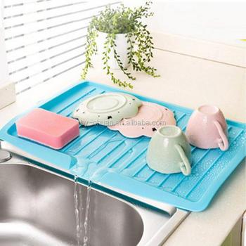 Kitchen Plastic Dish Drainer Tray Large