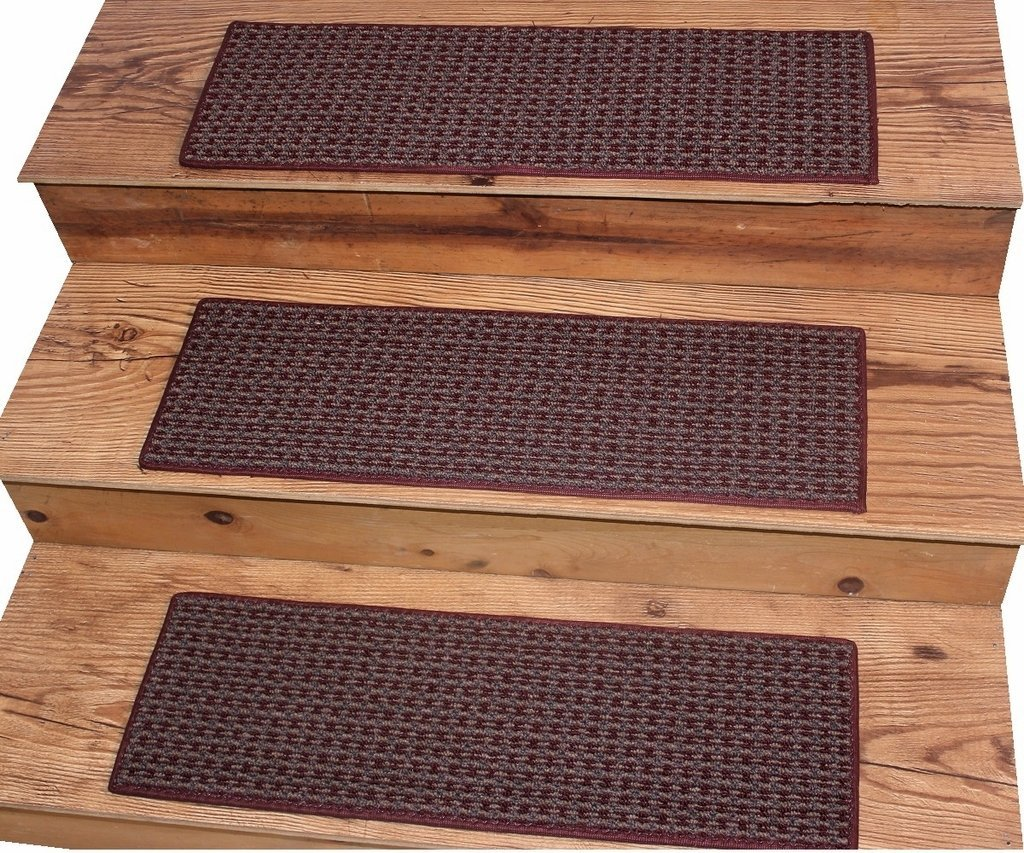 "TAHOE New London 9""x27"" Dog Assist Carpet Stair Treads - Sets of 6, 9 or 12 - 16 Treads Available (Set of 16 Treads)"