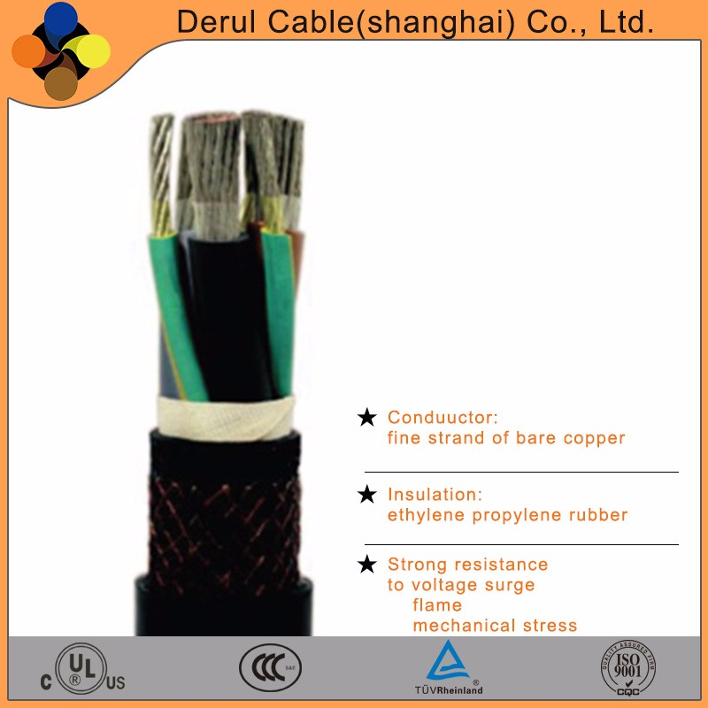 Copper conductor electrical cable for construction high voltage power cable with oil resistance