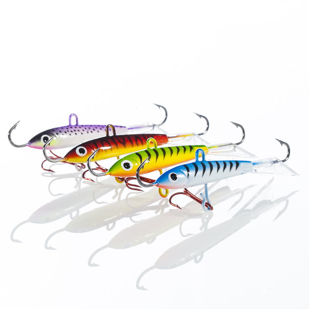 18g 83mm Spoon Metal Lures Ice Fishing Lures Brand Hard Bait Fresh Water Bass Walleye Crappie Fishing Tackle, 4 colors