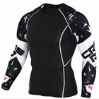Custom Fitness Clothes And Wholesale Long Sleeve T Shirt Printing For Men