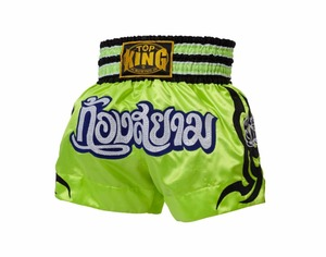 2017 New Green Muay Thai boxing Satin fighting shorts