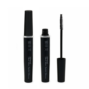 Hot sale black color aluminum material coffee tube mascara with mascara black wands
