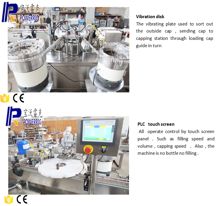 Eye drop bottle filling capping labeling machine