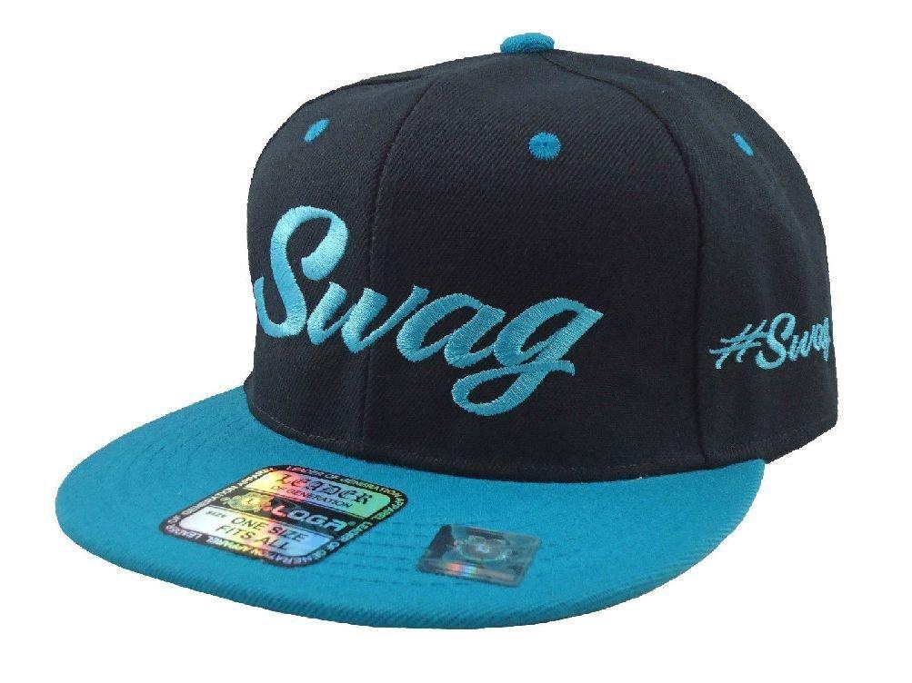 de51c8d91 Buy New Swag Snapback Hat Flat Bill Hip Hop Hats caps Black Aqua in ...