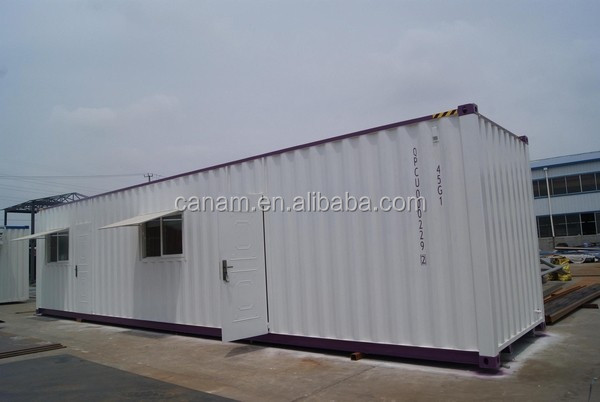 self-made modified shipping container office