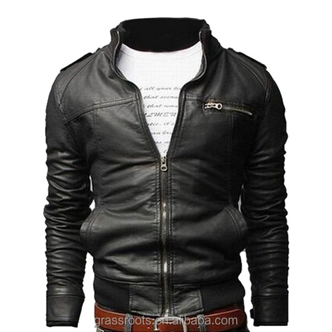 Real men sheep leather jacket with garment washed