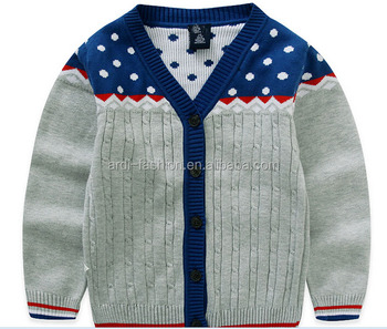 Trendy Polka Dots Cable Knitting Pattern Baby Boy Cardigan Buy