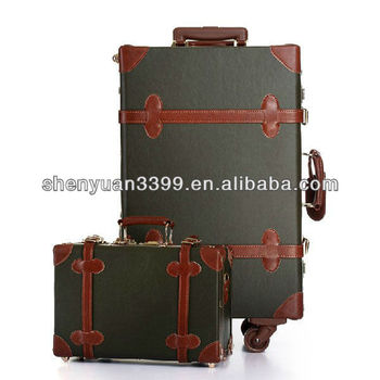 Wholesale Brown Leather Eminent Luggage Bag/luggage Set For Men ...