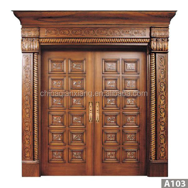 High Quality Door Antique Carved Wood Double Door Design