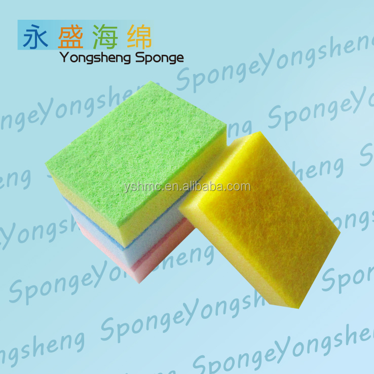 Convenient kitchen Souring Pad, Colorful Square Cleaning Sponge