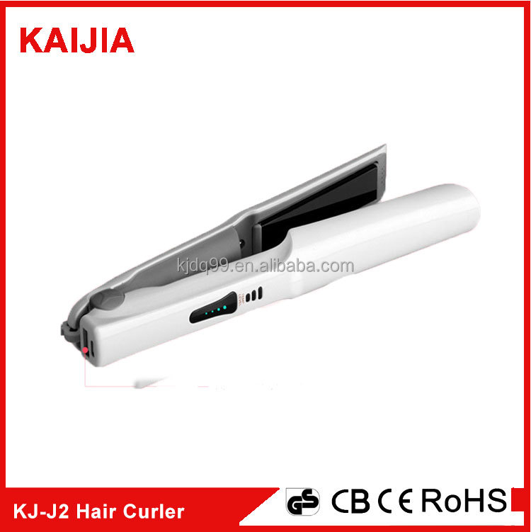 2 in 1 USB Iron Hair Tool Hair Curler, and Hair Straightener Salon Styling Tool