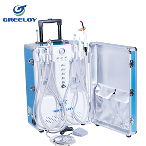 practicing dental students use portable dental unit US