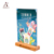 A4 A5 A6 T-Shaped Acrylic Table Menu Stand Wood Base Restaurant Tabletop Paper Price Tag Holder Poster Display Stands