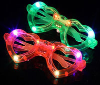 Alibaba hot sell Christmas party supplies Light glasses LED glasses