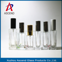 hot sale 30ml 50ml square rectangle custom made perfume empty glass spray pump bottle
