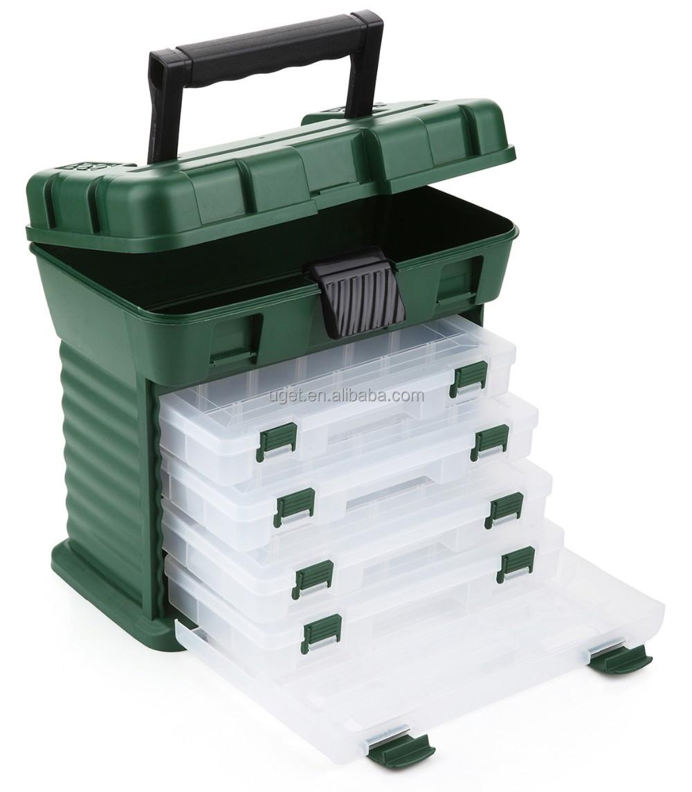 OEM ODM Plastic Drawer Equipment Storage Hook Lure Organizer Gear Fishing Tackle Box Wholesale, Transparent etc