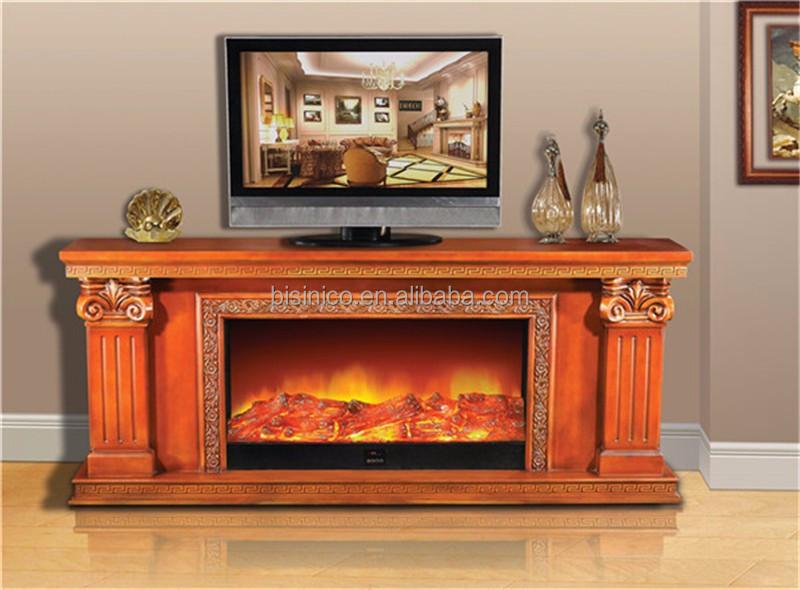 europ enne grande lectrique chemin e meuble tv avec d corative faux cadre euroepan foyer. Black Bedroom Furniture Sets. Home Design Ideas