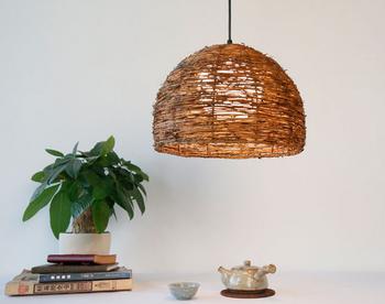 Vintage Simple Design Rattan Lamp Shade Diy Pendant Light - Buy ...