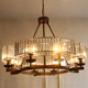 8 lights decorative crystal chandelier lighting Modern bronze iron chain crystal luxury chandelier