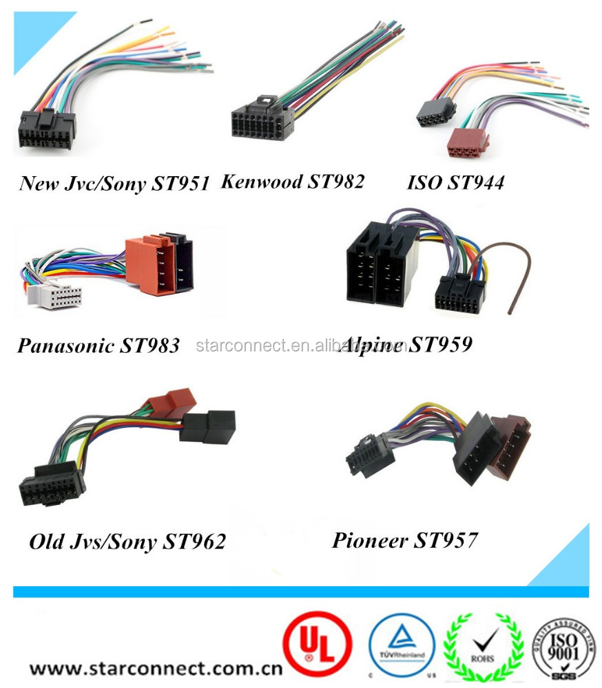 Factory Custom Car Adaptor Audio Connector Auto Jvc Pioneer Kenwood Stereo Wiring Harness Power Plug 16 Pin Radio Wire Buy Harnesscar