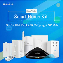 Smart home Automation Kit,Broadlink S1/S1C , Broadlink RM2 Rm Pro Universal Intelligent controller,Smart Switch TC2 2gang,SPmini