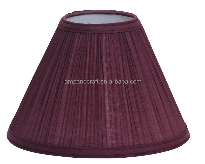 Custom Colored fabric lampshade With Mushroom Pleat Table light Hardback Shades Tapered For bulk wholesale decoration