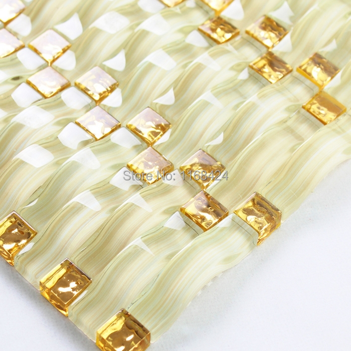 Valuable piece golden strip glass idea simply