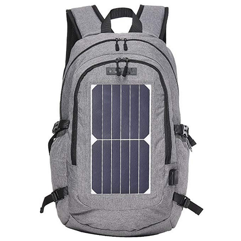 Waterproof mochilas with USB Charging port for Solar Panel Power Laptop Bag outdoor hiking business Backpack